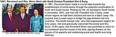 The Cain and Abel of Korea; Kim Il Sung and Sun Myung Moon