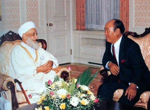 "The problem for Islam is that Rev. Moon never mentioned the fact he despoiled Islam by not letting them know they were in reality the Second Israel, whose Blessing or ""Baraka"" had come to them ( as the Desert Tribes replaced the 12 tribes of Jacob: who were also the 12 grandsons of Issac ); the Baraka of Israel was given to Mohammed as Mecca from the Jews of the First Israel and Jerusalem which was made a desolation when the First Israel left their position by killing the Messenger John as ""the friend of the Bridegroom"" in the position of Eliezer of Damascus and the Messiah; who was in the position of Issac as ""the Bridegroom"". No Issac: no Jacob; and no Jacob: no ISRAEL. THIS is why he said: ""Forgive them Father; they KNOW NOT WHAT THEY DO"""