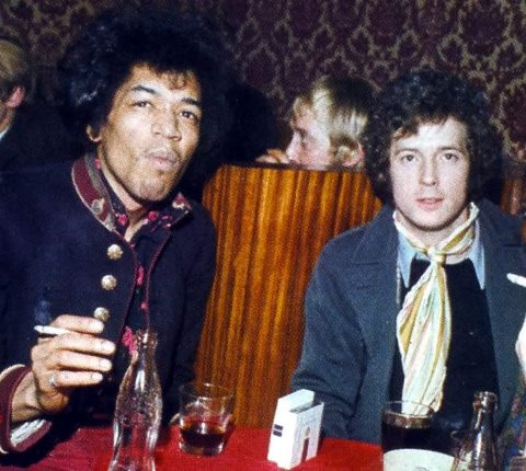 Eric and Jimi catching up on old friends