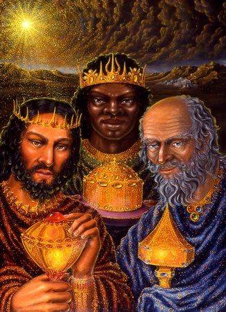 The Three Kings of the North, South and East; but the Fourth was Herod the Great Fool; of the West