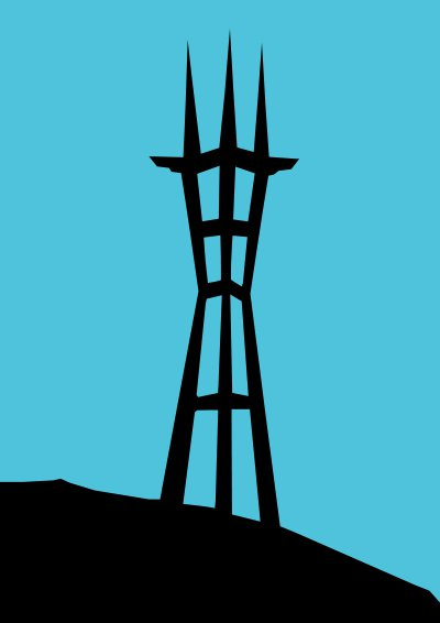 As of the Tower that faced the Breasts of St. Francis: Twin Peaks, where Mr. Moon mixed the soil of Korea in California.