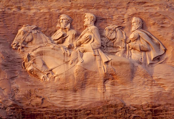 Baal on stone mountain and the right wing of satan a
