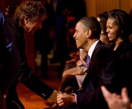 Dylan and Barack, touching base.....