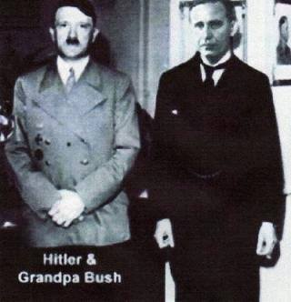 Hitler and Prescott Bush, father of George Bush Sr.
