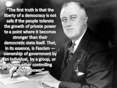 The facts were known long ago, and we who forget these words by FDR will rue it...