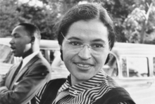 Rosa Parks, born on the very day Harriet Tubman died