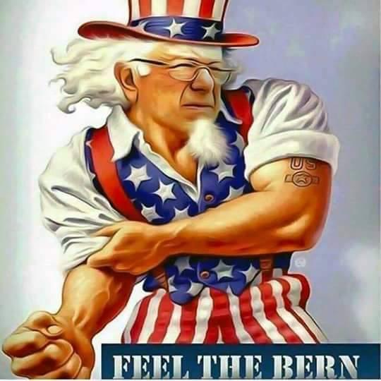Uncle Sam as Bernie Sanders
